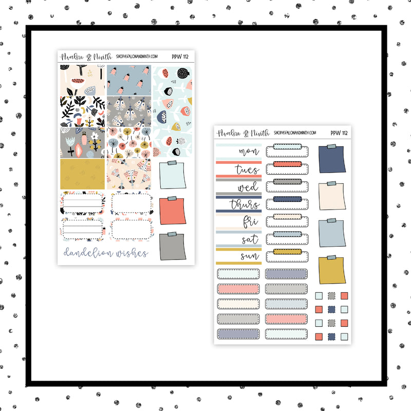 Dandelion Wishes PPWeeks Kit //  Planner Stickers // PPW112