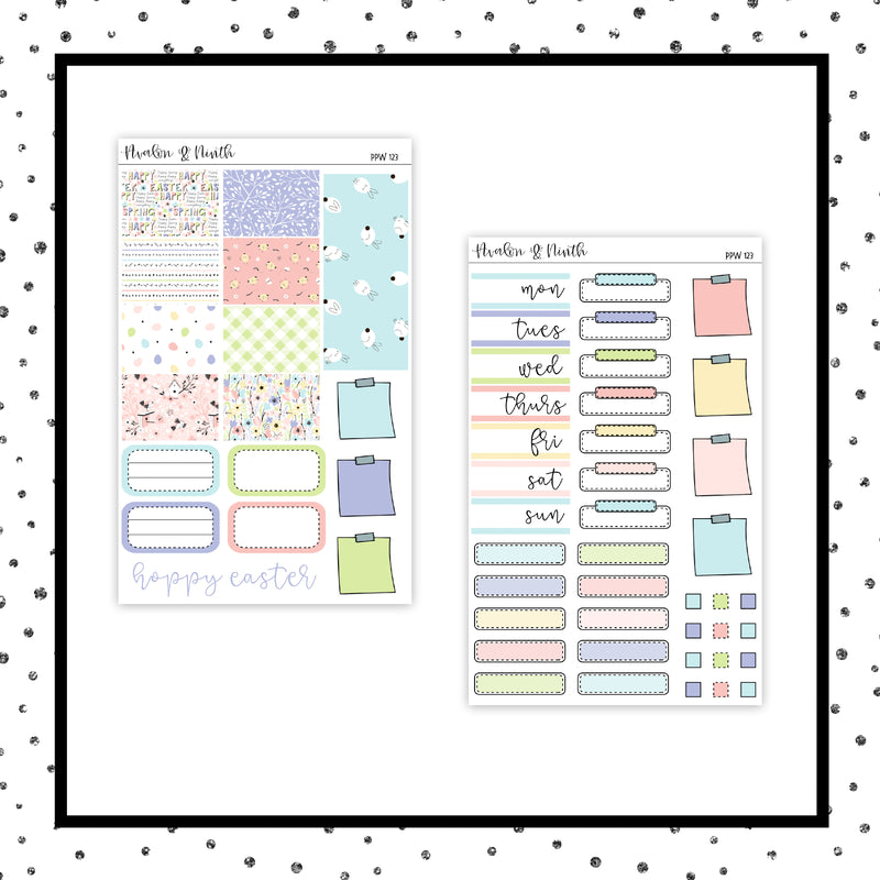 Hoppy Easter PPWeeks Kit //  Planner Stickers // PPW123
