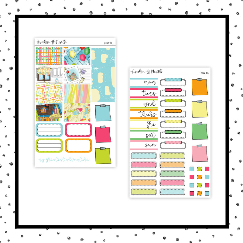 My Adventure PPWeeks Kit //  Planner Stickers // PPW126
