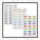 Stitched Appointment Label Quarter Boxes // Planner Stickers // QB108, 150, 161