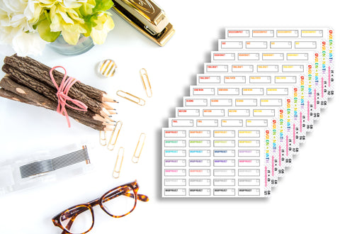 School Assignment Tracking Stickers // Online School // Planner Stickers // QB