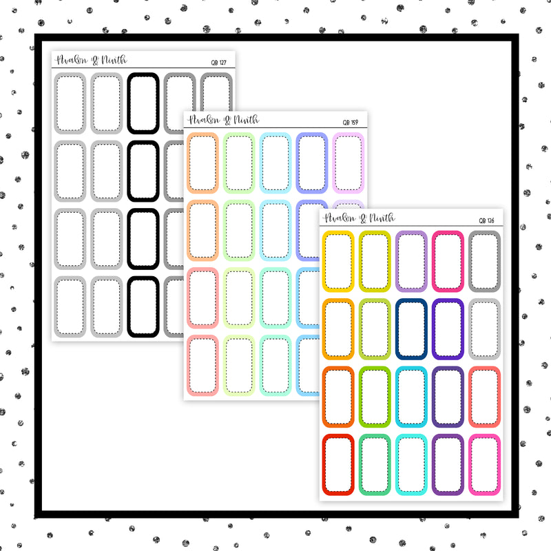 Third Box // 1/3 Height Boxes // Planner Stickers // QB126-127, 159