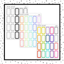Lined Third Box // 1/3 Height Boxes // Planner Stickers // QB128-129, 160