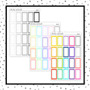 Grid Third Boxes // Planner Stickers // QB162-164