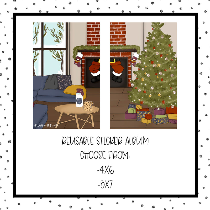 Christmas Night - Reusable Sticker Book - Choose Your Size (Design 3)