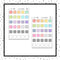 Square Mini Box Stickers // Functional // Hobonichi // TRCK166-167