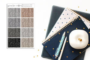 Glitter Headers // Neutral // Planner Stickers // GH102