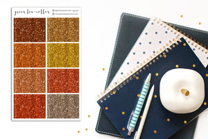 Glitter Headers // Autumn Colors // Planner Stickers // GH107