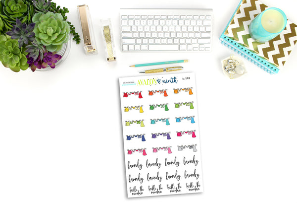 Laundry Stickers // Planner Stickers // IC144