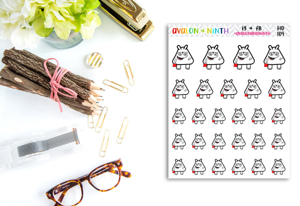 Handdrawn Stickers // Character Stickers // Planner Stickers // HD109-116