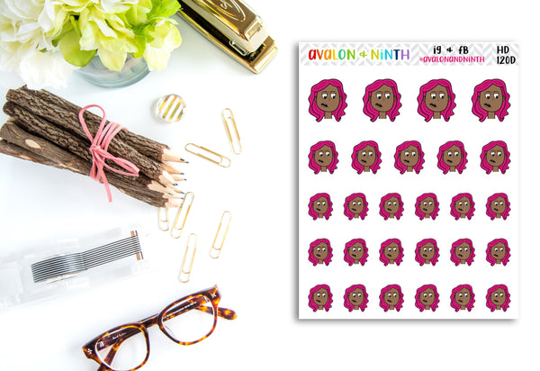 Handdrawn stickers // Character stickers // Planner Stickers // Judging Stickers // HD120