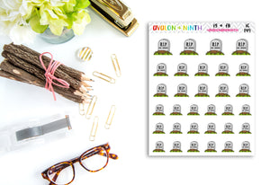 No Spend Stickers // Tombstone Stickers // Planner Stickers // IC149
