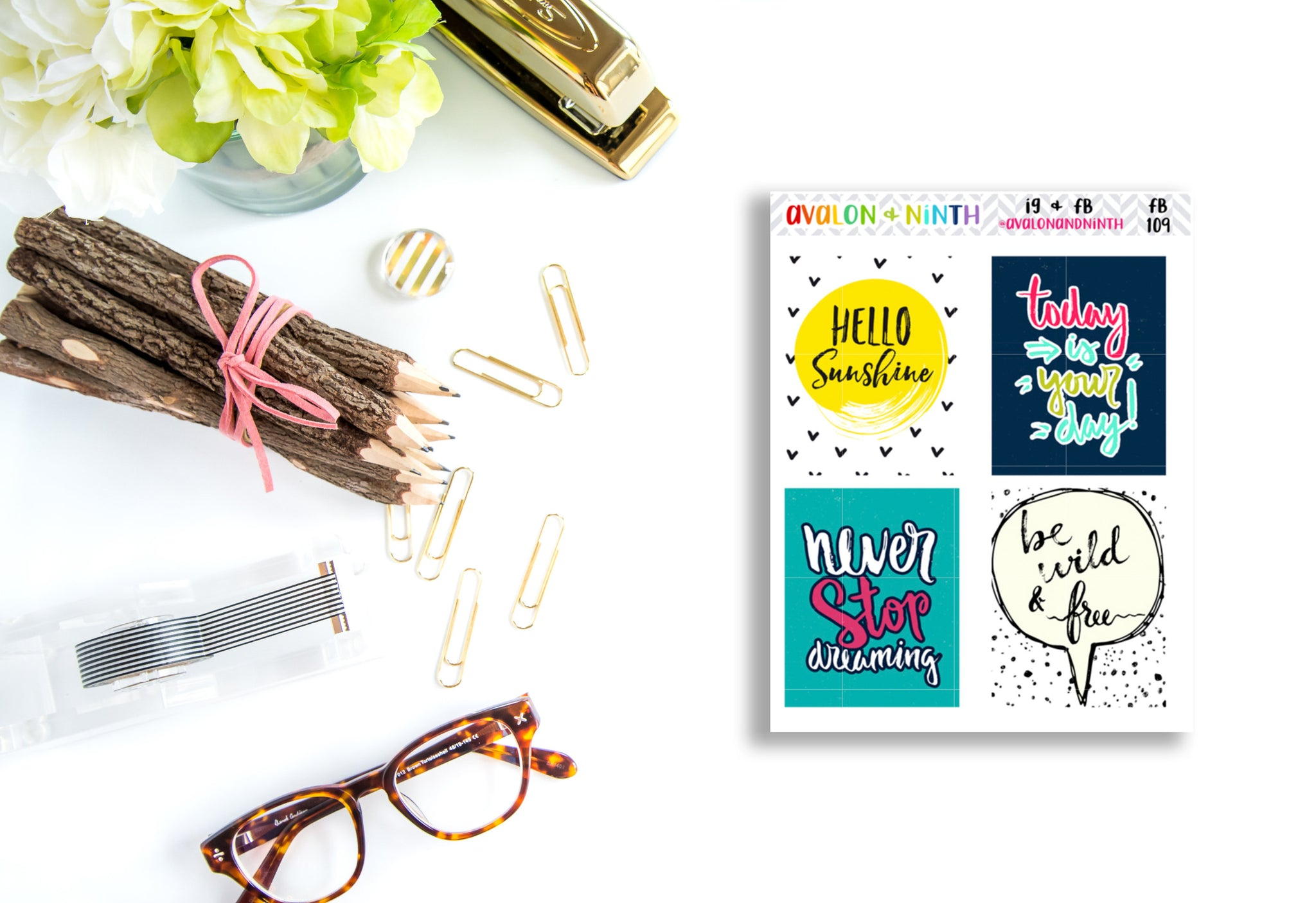 Quote Box Stickers // Planner Stickers // FB109