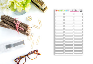 Blank Stiched Labels // Planner Stickers // IC152