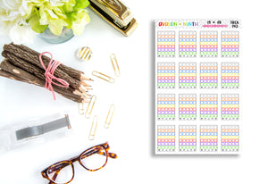 Meal Container Tracking Stickers // Planner Stickers // TRCK143