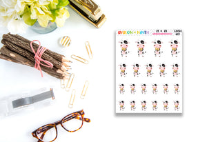 Cow and Chicken Character Stickers // Planner Stickers // CHSH601