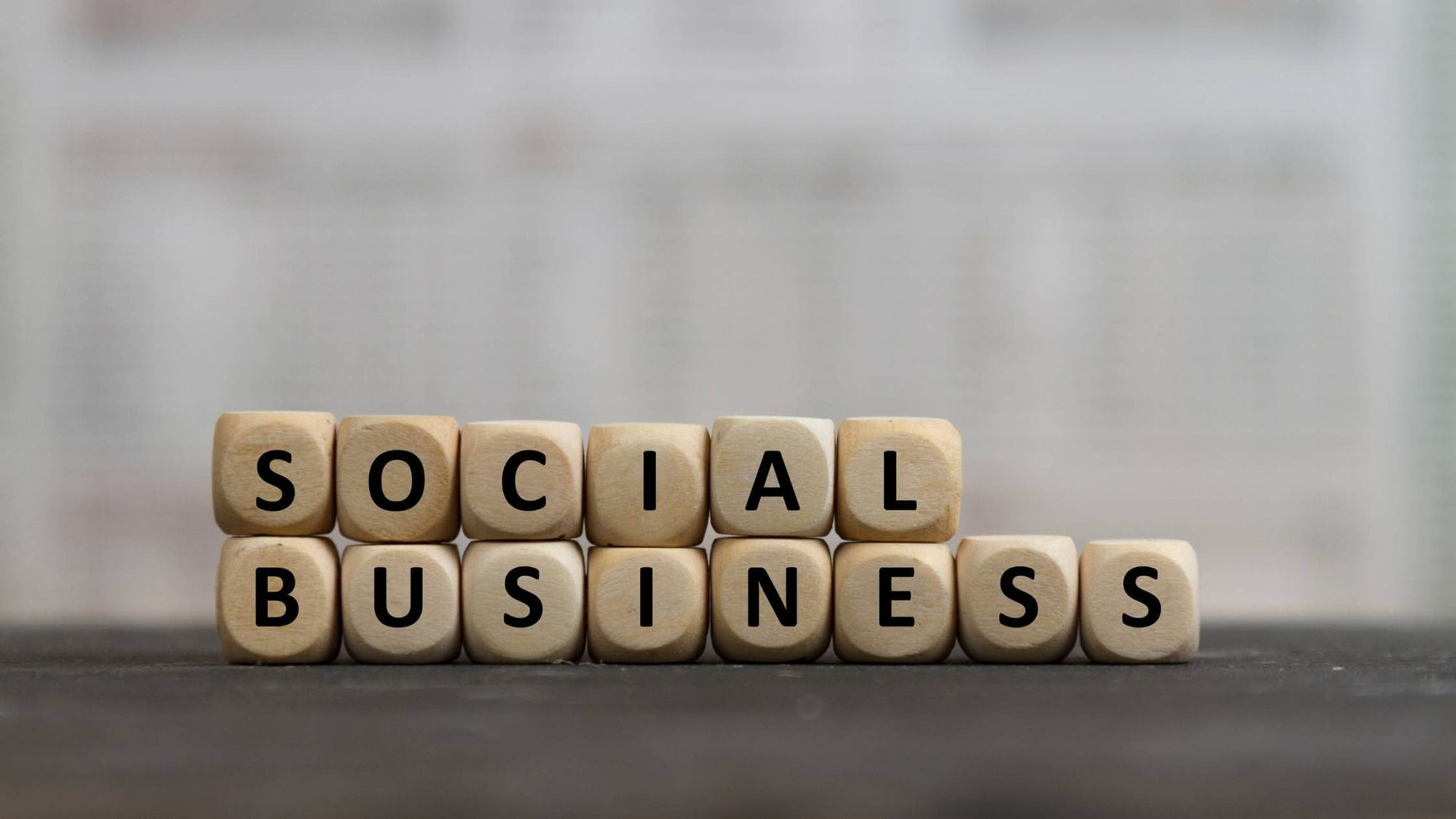 Social Business written with Scrabble tiles