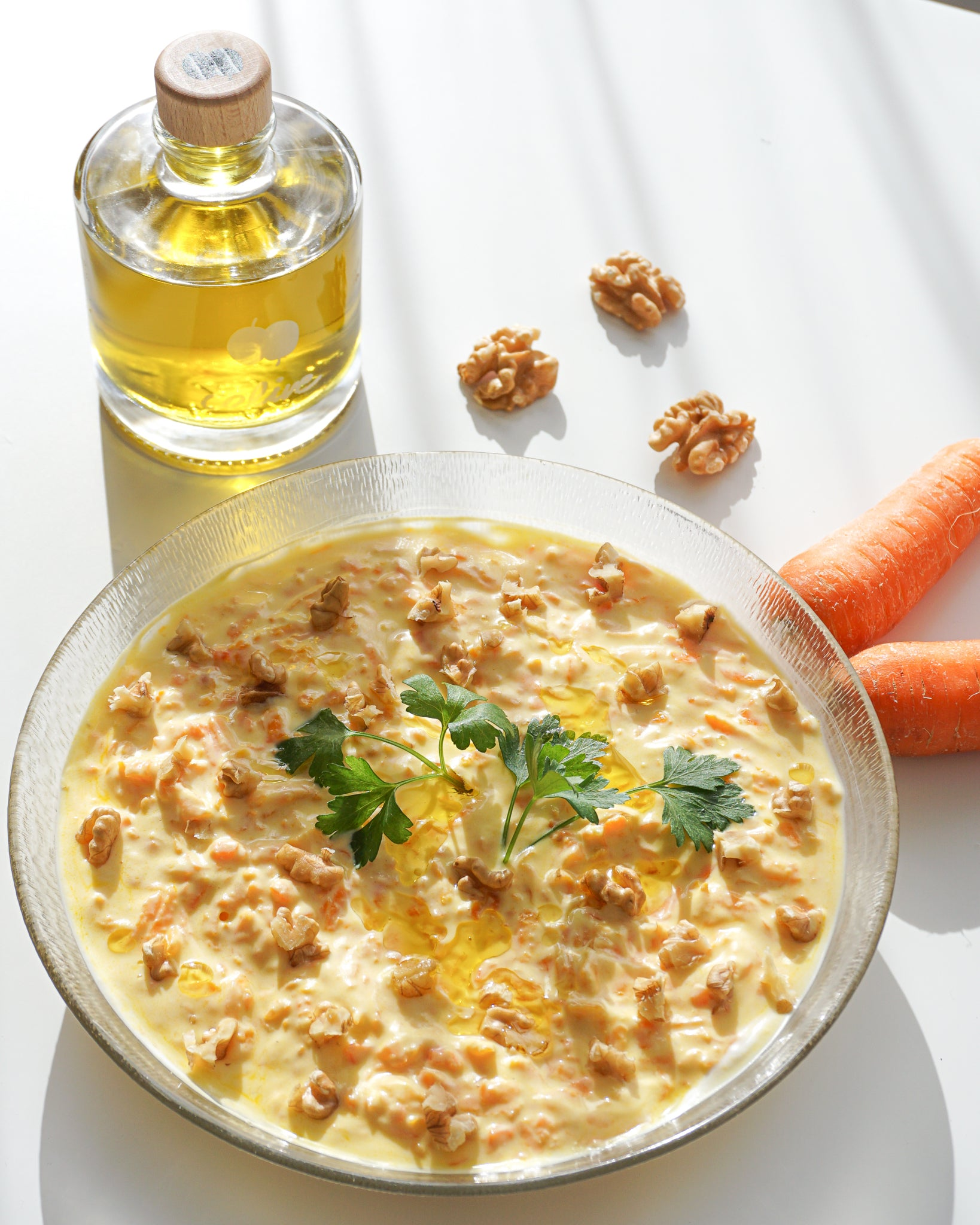 Yogurt Meze: Sautéed Carrots in Garlic Yoghurt