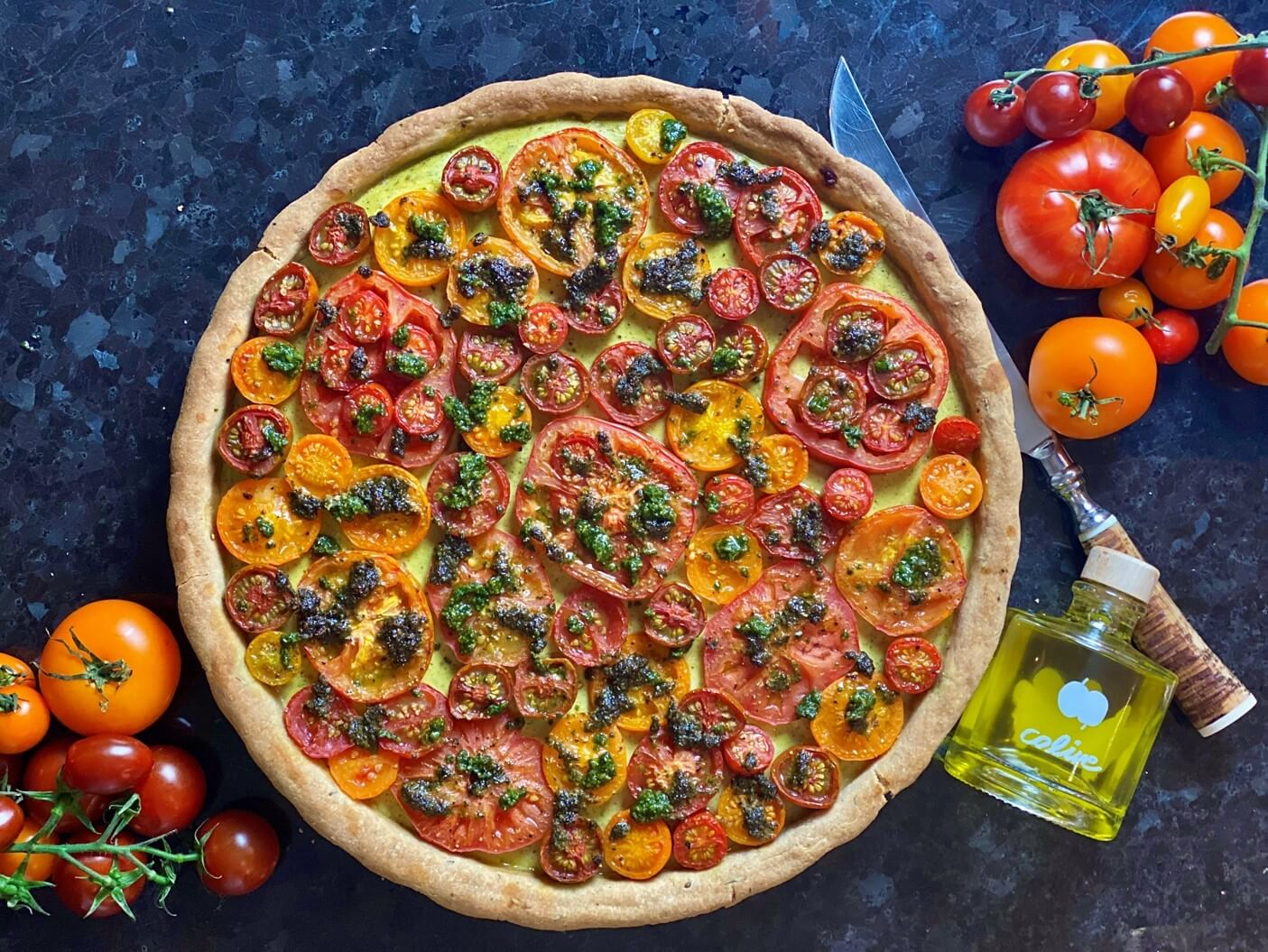 Guest Recipe: Zars Kitchen's Roasted Tomato Tart