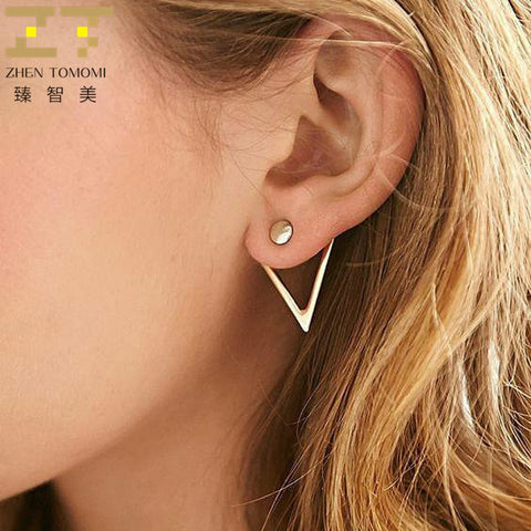 Stud and Triangle Earring Jacket Set