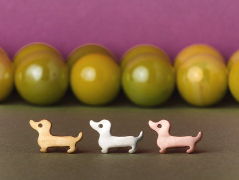 Weiner Dog Dachsund Earrings