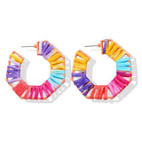 Color Pop Bohemian Woven Earrings
