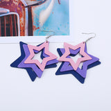 Stacked Stars Retro Earrings