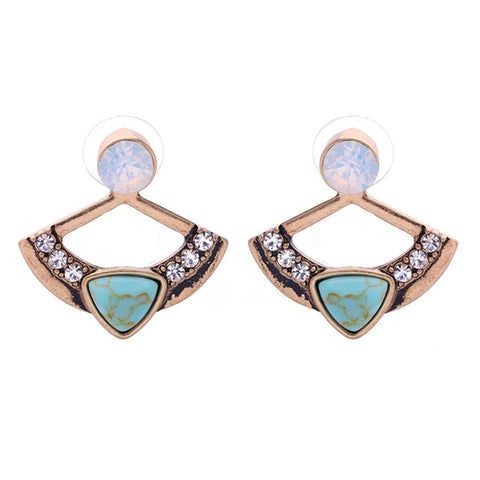 Turquoise Tiara Stackable Earrings