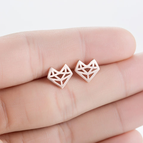Geometric Fox Face Earrings