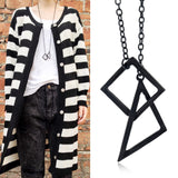 Matte Black Geometric Necklace Set