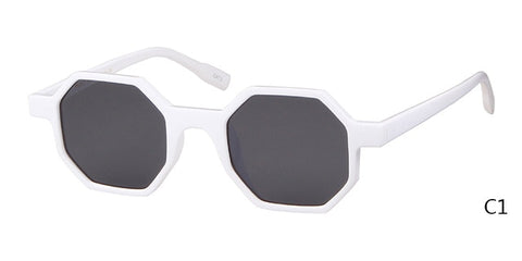 Retro Hexagon Frame Sunglasses