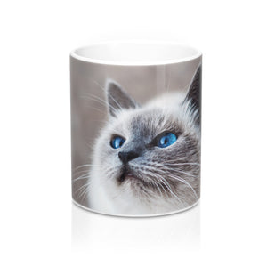 buy Blue Eyed Cat Design Coffee & Tea Mug 11oz|0.33l at www.365mugs.com