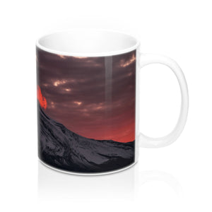 buy Red Sky Mountain View Design Coffee & Tea Mug 11oz|0.33l at www.365mugs.com