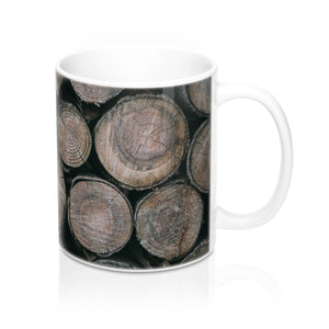buy Wooden Logs Design Coffee & Tea Mug 11oz|0.33l at www.365mugs.com