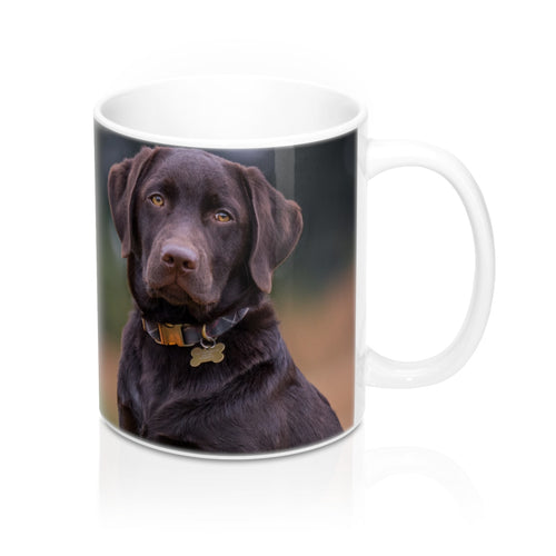 buy Chocolate Labrador Design Coffee & Tea Mug 11oz|0.33l at www.365mugs.com