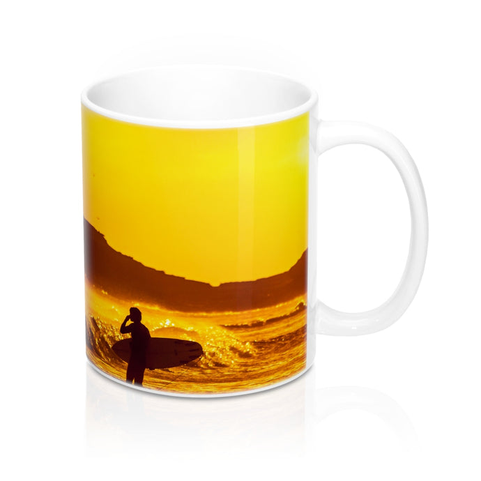buy Sunset Surfer Design Coffee & Tea Mug 11oz|0.33l at www.365mugs.com