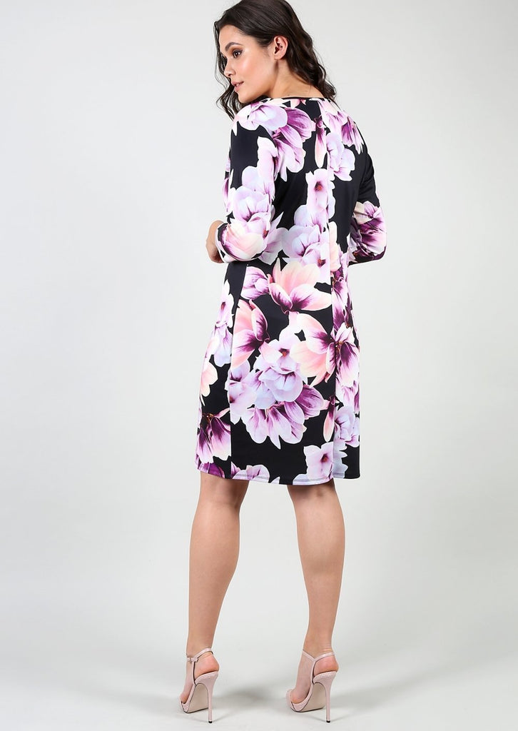 Plus Size Size Floral Bodycon Dress view 3