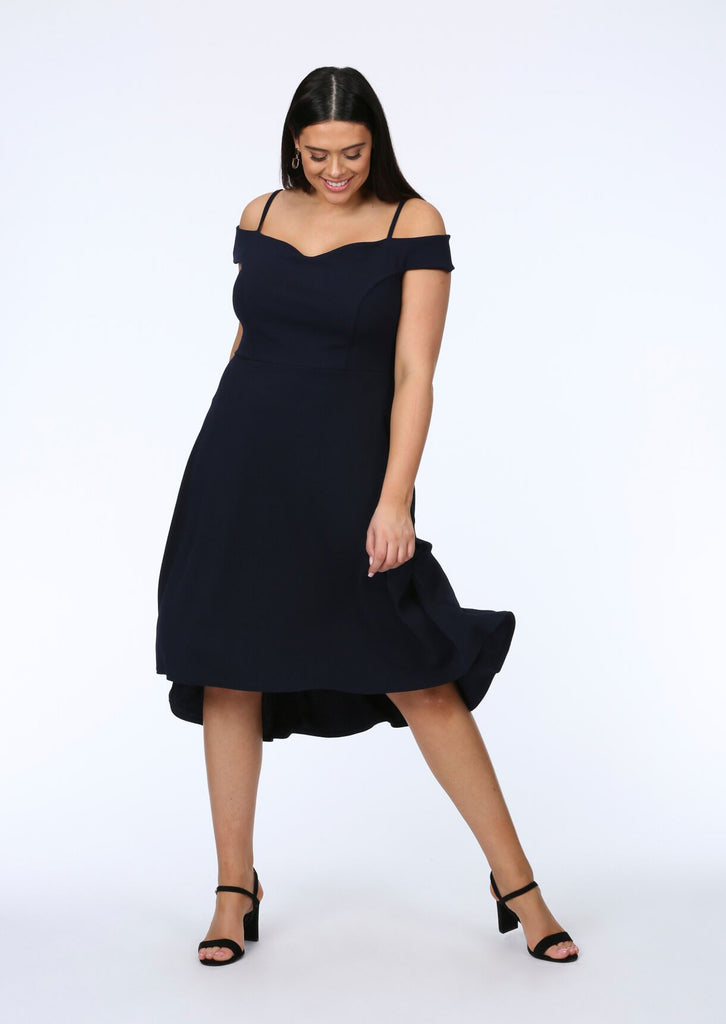 Navy Two Strap Dress 1