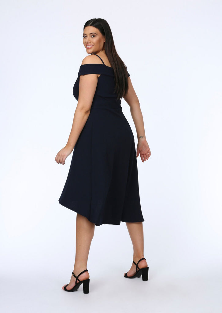 Navy Two Strap Dress 3 view 3