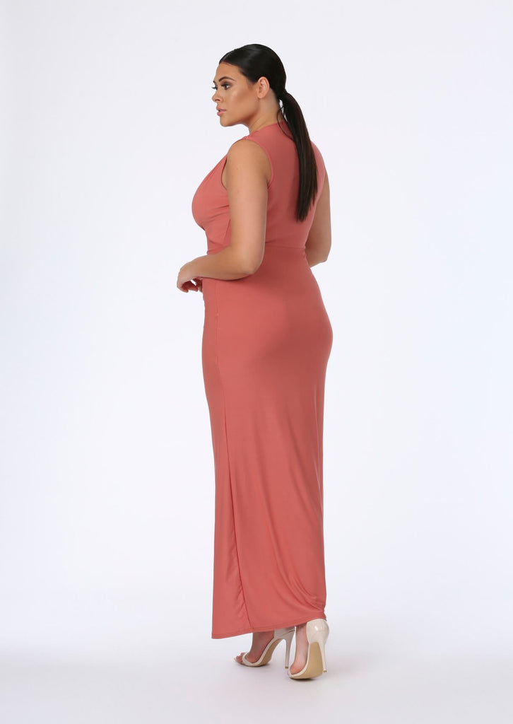 Rose Plunge Front Maxi Dress 3 view 3