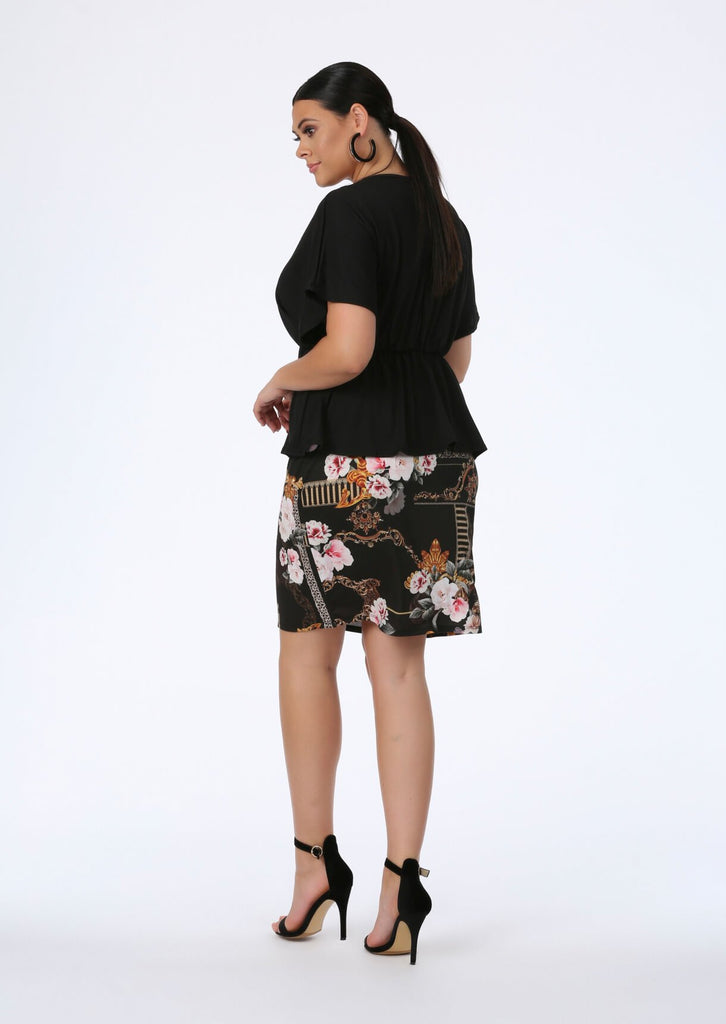 Black Luxe Midi Skirt 3 view 3