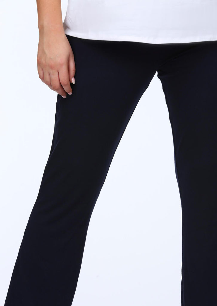 Plus Harley Flare Trousers in Navy view 5