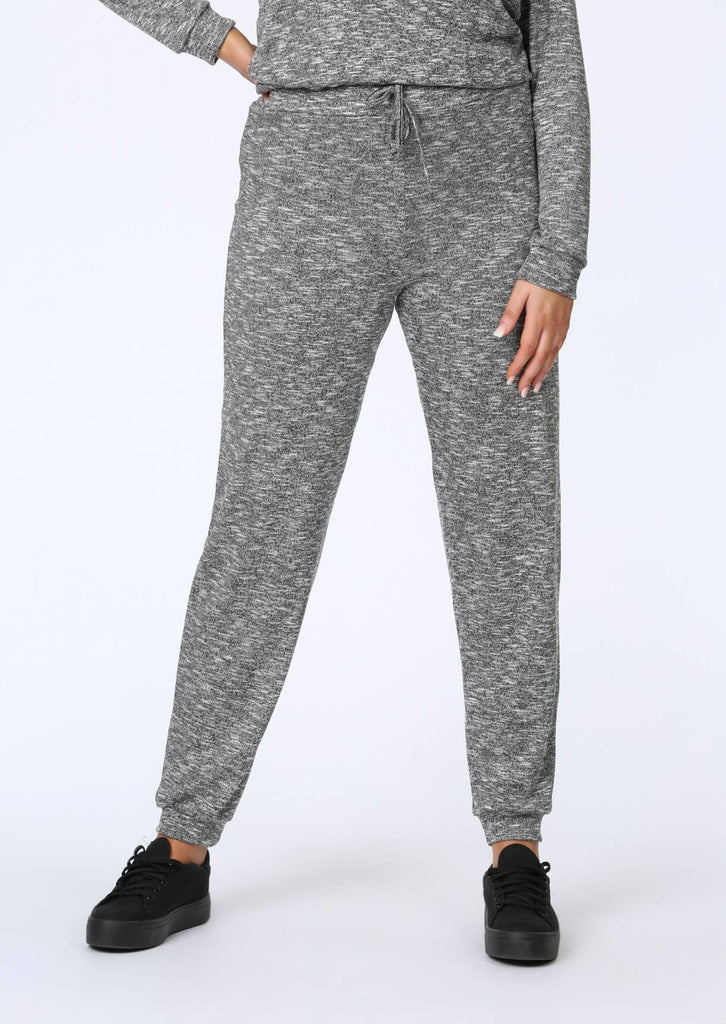Plus Size Knitted Jogger in Grey view 2