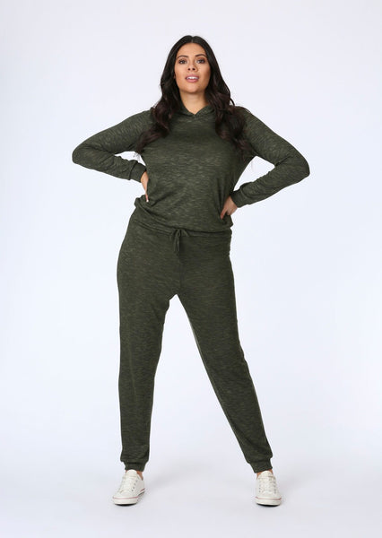 396a9735df5a plus gracie knitted jogger in khaki