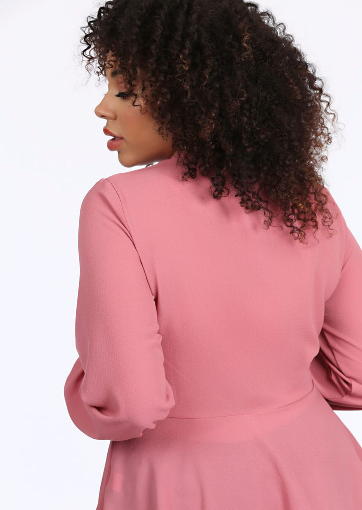 Rose Ruched Front Peplum Smock Top 4 view 4