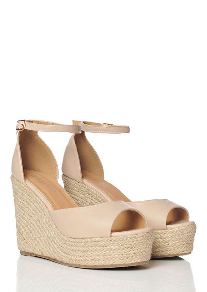 056619d1c8325 wide fit nude open toe wedge sandals