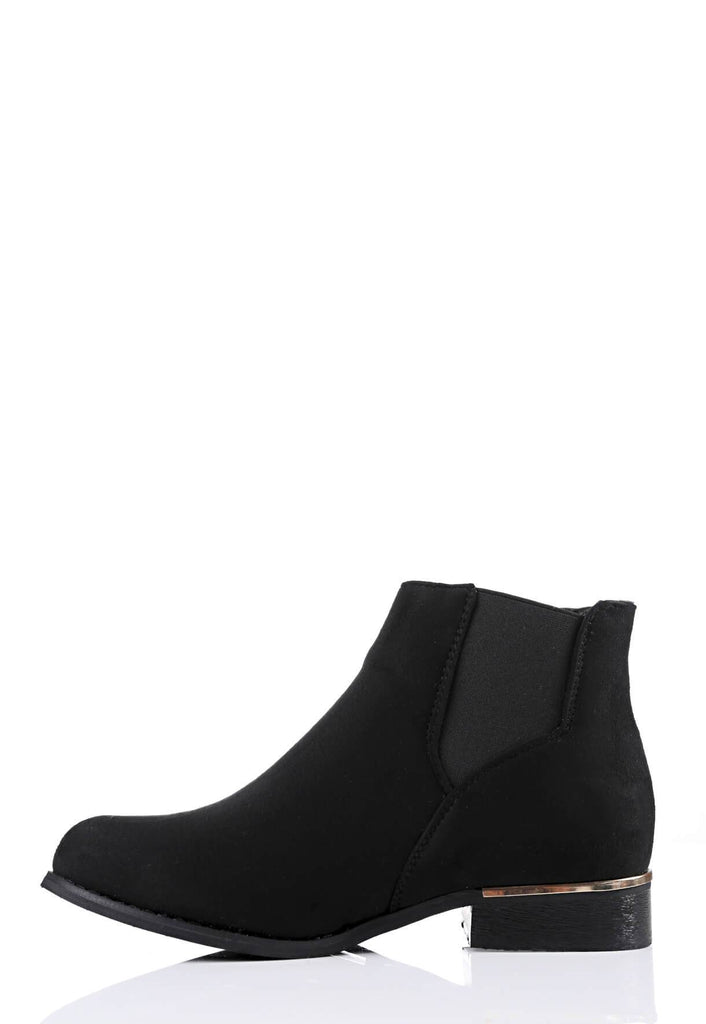Pink Clove Wide Fit Black Chelsea Boot Suede view 2