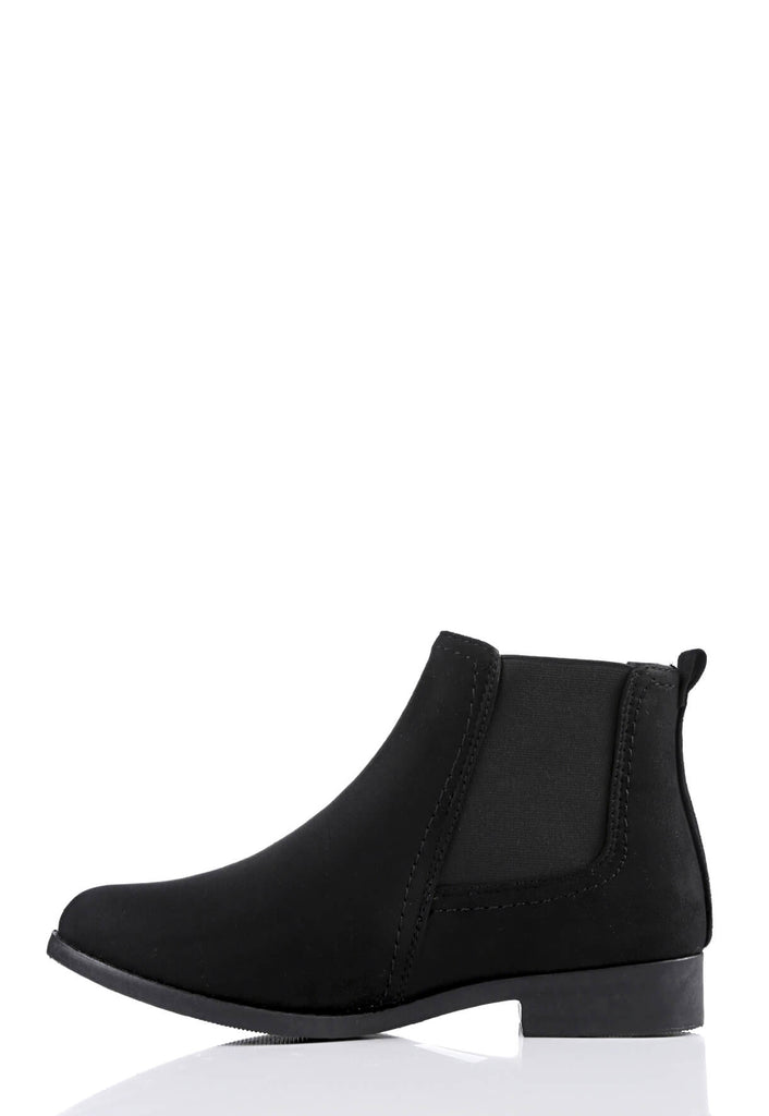 Pink Clove Wide Fit Black Suede Chelsea Boots view 2