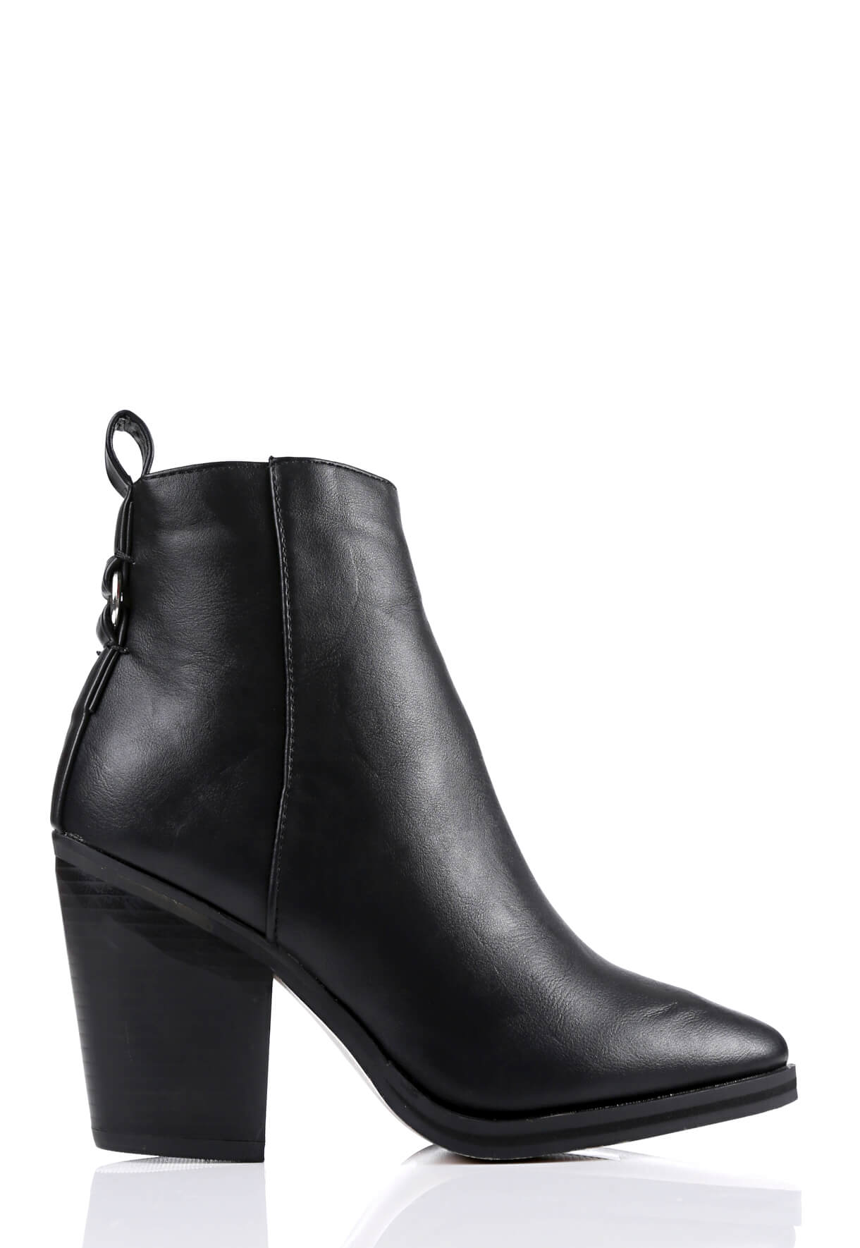 Wide Fit Black Pointed Toe Boots