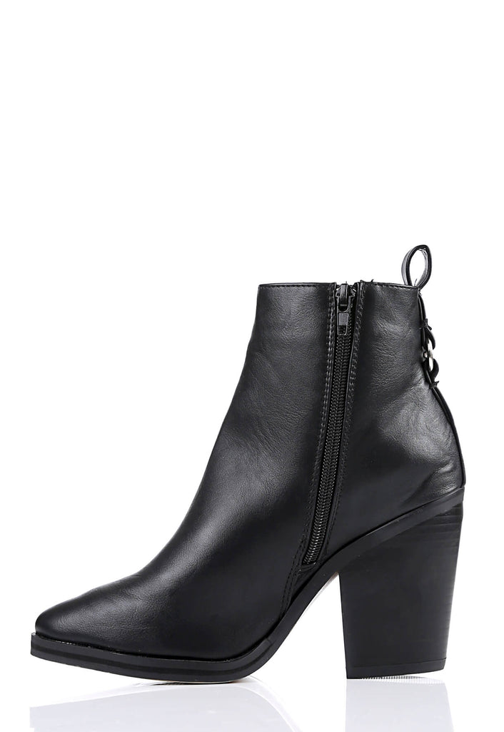 Pink Clove Wide Fit Black Pointed Toe Boots view 2